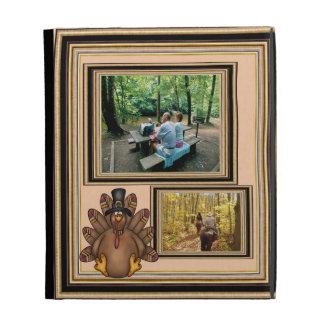 Thanksgiving Tom Turkey Photo Template iPad Folio Cover