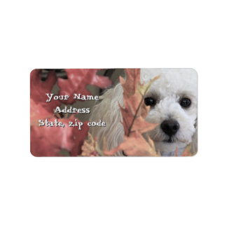 Thanksgiving Toy Poodle puppy address labels