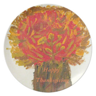 Thanksgiving Tree Painting Plate