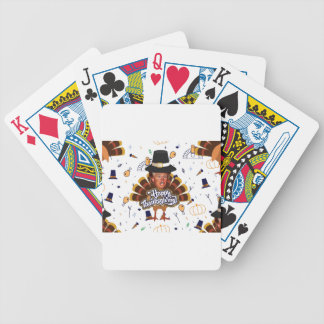 """""""thanksgiving trump turkey bicycle playing cards"""