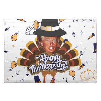 """thanksgiving trump turkey placemat"