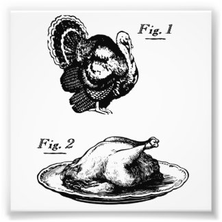 Thanksgiving Turkey Before and After Photograph