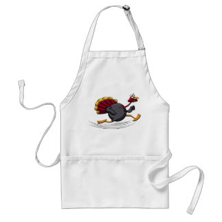 Thanksgiving Turkey Bowling Run Standard Apron