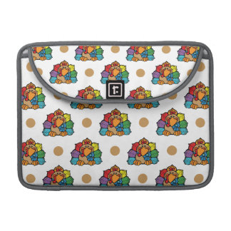 Thanksgiving Turkey, Brown & White Polka Dots MacBook Pro Sleeves