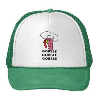 Thanksgiving Turkey Chef Gobble Cap