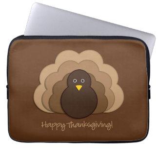 Thanksgiving turkey computer sleeve
