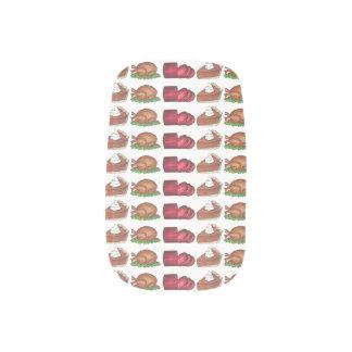 Thanksgiving Turkey Cranberry Pumpkin Pie Foodie Minx Nail Art