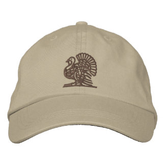 Thanksgiving Turkey Embroidered Hats