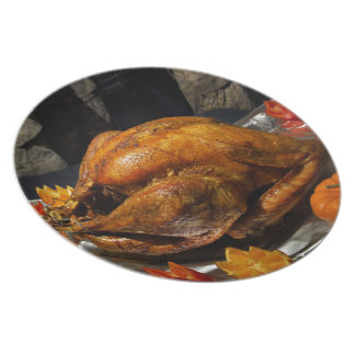 Thanksgiving Turkey for US Military Servicemen Dinner Plates