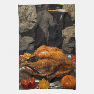 Thanksgiving Turkey for US Military Servicemen Hand Towels