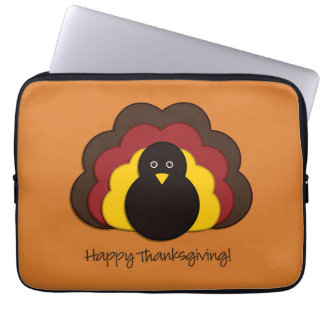 Thanksgiving turkey laptop computer sleeve