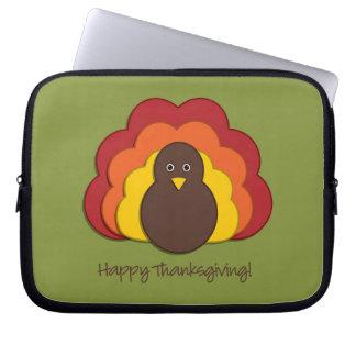 Thanksgiving turkey laptop computer sleeves