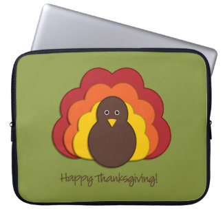 Thanksgiving turkey laptop sleeves