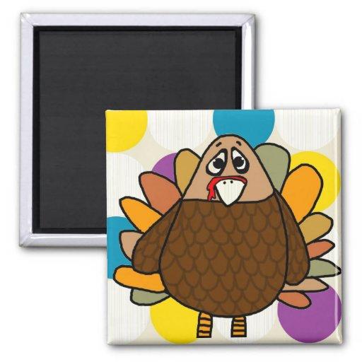 Thanksgiving Turkey Fridge Magnets