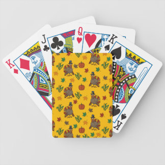 Thanksgiving Turkey pattern Bicycle Playing Cards