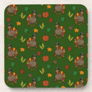 Thanksgiving Turkey pattern Coaster