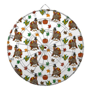 Thanksgiving Turkey pattern Dartboard