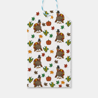 Thanksgiving Turkey pattern Gift Tags