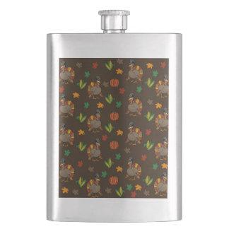 Thanksgiving Turkey pattern Hip Flask