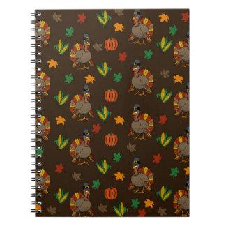 Thanksgiving Turkey pattern Notebook