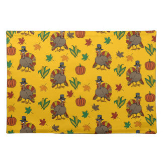 Thanksgiving Turkey pattern Placemat