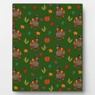 Thanksgiving Turkey pattern Plaque