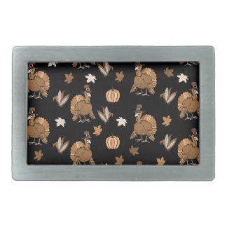 Thanksgiving Turkey pattern Rectangular Belt Buckle