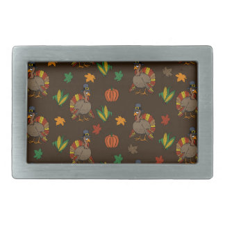 Thanksgiving Turkey pattern Rectangular Belt Buckles