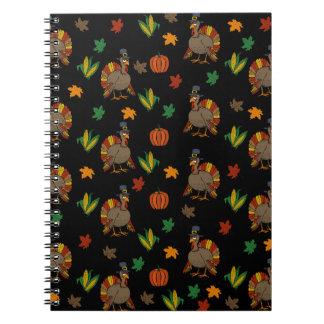 Thanksgiving Turkey pattern Spiral Notebook