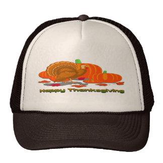 Thanksgiving Turkey Pumpkins Trucker Hat