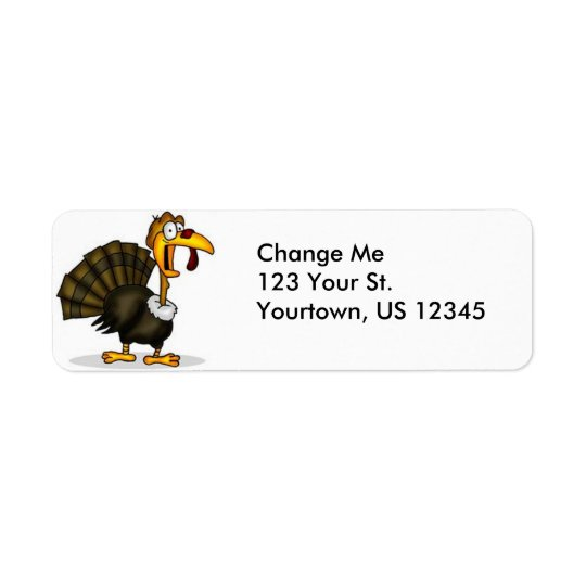Thanksgiving Turkey Return Address Labels