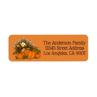 Thanksgiving Turkey Return Address Labels