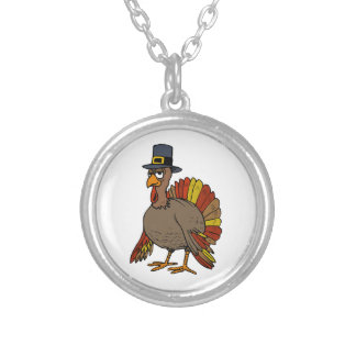 Thanksgiving Turkey Silver Plated Necklace