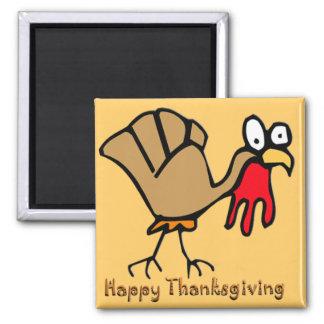 Thanksgiving Turkey Square Magnet