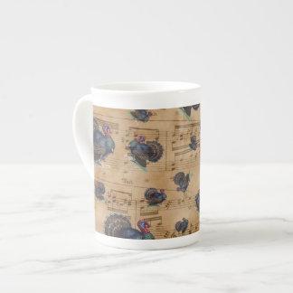 Thanksgiving Turkey Vintage Illustration Tea Cup