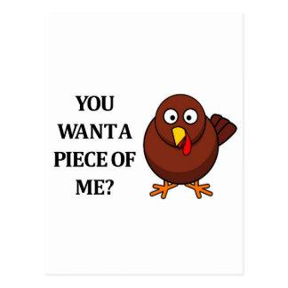 Thanksgiving Turkey (want a piece) Postcard