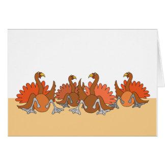 Thanksgiving Turkeys Card