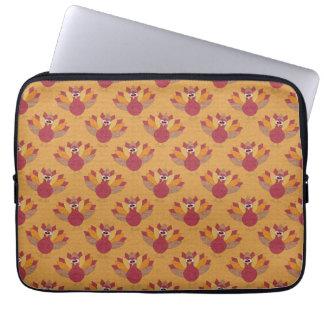Thanksgiving Turkeys Pattern Laptop Sleeve