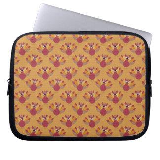 Thanksgiving Turkeys Pattern Laptop Computer Sleeve