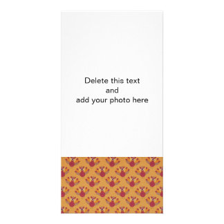 Thanksgiving Turkeys Pattern Customized Photo Card
