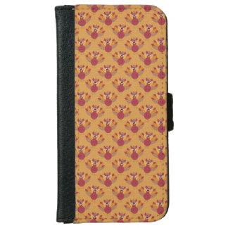 Thanksgiving Turkeys Pattern iPhone 6 Wallet Case