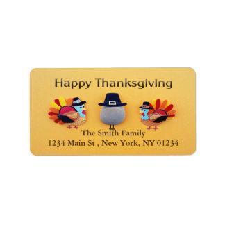 Thanksgiving Turkeys Pilgrim Address Label