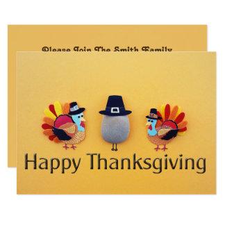 Thanksgiving Turkeys Pilgrim Card