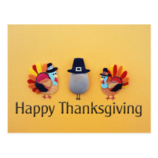 Thanksgiving Turkeys Pilgrim Postcard