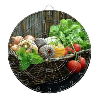 Thanksgiving Vegetable Harvest in a Basket Dartboard