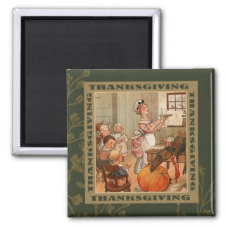 Thanksgiving Vintage Style Gift Magnet