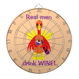 Thanksgiving Wine Drinking Turkey Dartboard