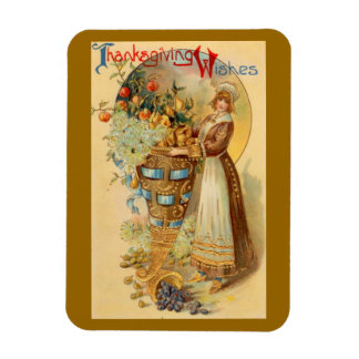 Thanksgiving Wishes Rectangular Magnets