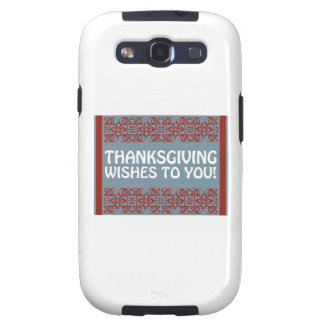 Thanksgiving Wishes Samsung Galaxy S3 Cover