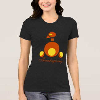 Thanksgiving women' black tshirt